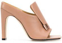 Sergio Rossi - square toe sandals - women - Lamb Skin/Leather - 36, 37, 37.5, 38, 38.5, 39, 39.5, 40 - NUDE & NEUTRALS