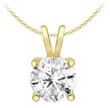 Carissima Gold Collana da Donna in Oro Giallo 9K (375) con Diamante, 0.5ct, 43 cm