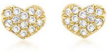 Carissima Gold - Orecchini a Lobo da Donna in Oro Giallo 9K (375) con Diamante (0.10 K)