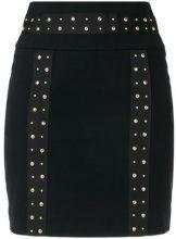 Pierre Balmain - studded mini skirt - women - Cotton/Spandex/Elastane/Aluminium - 36, 38, 40 - BLACK