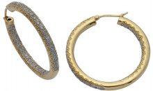 H. Gaventa Ltd - Orecchini a cerchio da donna con diamante, oro giallo 9k (375), cod. E-10519