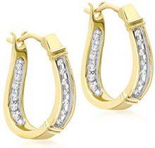 H. Gaventa Ltd - Orecchino da donna con diamante, oro giallo 9k (375), cod. E-11639