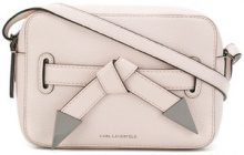 Karl Lagerfeld - K/Rocky bow camera bag - women - Leather - One Size - PINK & PURPLE