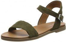 New Look Wide Foot Gday, Sandali Punta Aperta Donna, Green (Dark Khaki 34), 38 EU