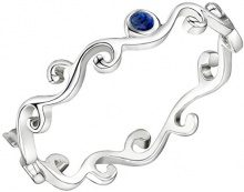Jo for Girls-Anello componibile, in argento Sterling, con motivo a vortice, misura K