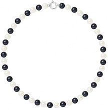 Pearls & Colors Collana di perle Donna argento 925_argento perla rotonda - AM17-COL-AG-R89-AML-WHBL