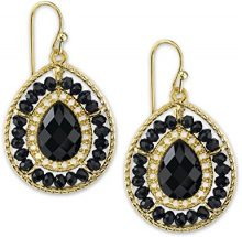 1928 Jewelry Gold-Orecchini a goccia, colore: nero