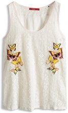 edc by Esprit Embro Tank 045Cc1K009 - Top da Donna, Weiß (Off White 103), Taglia 36
