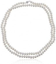 Kimura Pearls   925  argento Rotonda  perla cinesa da coltivazione bianco Perla
