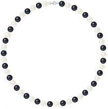 Pearls & Colors Collana di perle Donna argento 925_argento perla rotonda - AM17-COL-AG-R89-M-WHBL