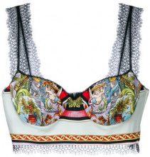 Versace - Bustino con stampa grafica - women - Silk/Acetate/Polyamide/Viscose - 44 - MULTICOLOUR