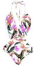 Cuba Oriental Floral Lace Cut Out Swimsuit