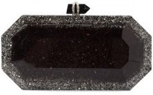 Marchesa - glitter box clutch bag - women - Acrylic - OS - BLACK