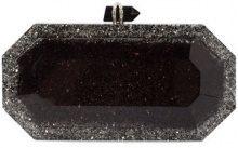 Marchesa - glitter box clutch bag - women - Acrylic - OS - Nero