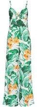 FIND Tuta Monopezzo con Stampa Tropicale Donna, Multicolore (Multicoloured), 40 (Taglia Produttore: X-Small)