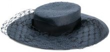 Misa Harada - mesh detail hat - women - Straw - OS - BLUE