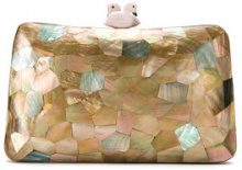 Serpui - mother of pearl clutch - women - Madre di Pearl - OS - Marrone