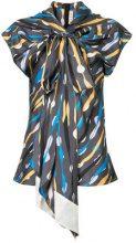 Marni - Blusa drappeggiata con fiocco - women - Silk - 40, 42, 44 - GREY