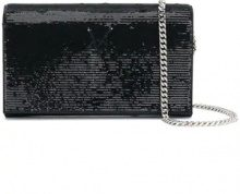 Saint Laurent - Borsa Clutch 'Sac de Jour' - women - Satin/Sequin - OS - Nero