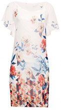 ESPRIT Collection 038eo1e023, Vestito Elegante Donna, Bianco (Off White 110), 40 (Taglia Produttore: 34)