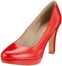 s.Oliver 22410, Scarpe con Tacco Donna, Rosso (Chili Patent), 36 EU