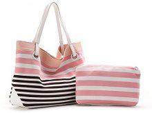 Abbacino SS16 Trendy Olbia, Borsa A Spalla Donna, Rosa (Pale Pink), Taglia Unica