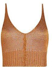 Alicia Top corto in maglia metallizzata