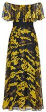 APART Fashion Cream Lace & Flowers, Vestito Donna, Mehrfarbig (Black-Red-Yellow), 38