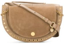 See By Chloé - Borsa a spalla 'Kriss' - women - Cotton/Leather - One Size - NUDE & NEUTRALS