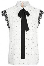 Marc Cain Additions JA 55.04 W01, Blusa Donna, Mehrfarbig (White And Black 190), 44