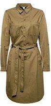 ESPRIT 018ee1e014, Vestito Donna, Verde (Khaki Green 350), 42 (Taglia Produttore: 36)