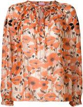 Giamba - embroidered floral blouse - women - Polyester - 38, 40, 42 - YELLOW & ORANGE