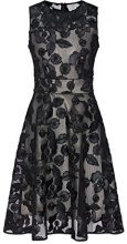 APART Fashion Glamour Meets with Flowers & Lace, Vestito Elegante Donna, Mehrfarbig (Black-Champagner), 44