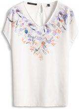 ESPRIT Collection 046EO1K017-Regular Fit, T-Shirt Donna, Mehrfarbig (Off White 110), 46