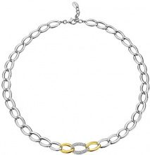 ESPRIT Collana da donna, in argento Sterling 925rodiato Braid Glam Slim Gold S. ESNL92258C420