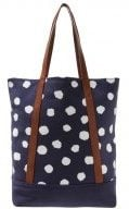 Shopping bag - navy/white