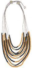 Camila Klein - Correntária resin details necklace - women - metal - OS - METALLIC