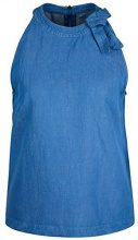 Marc Cain Collections JC 61.29 W49, Canottiera Donna, Blau (Capri Blue 361), 44