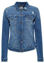 ESPRIT 028ee1g031, Giacca in Jeans Donna, Blu (Blue Medium Wash 902)