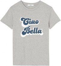 FIND S17AM801 magliette donna, Grigio (Grey), 44 (Taglia Produttore: Medium)