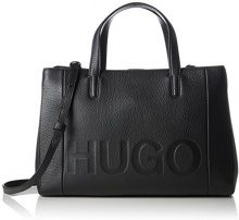 HUGO Mayfair Tote - Borse Donna, Nero (Black), 15x24.5x36 cm (B x H T)