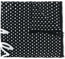 Karl Lagerfeld - Sciarpa con stelle - women - Silk - OS - Nero