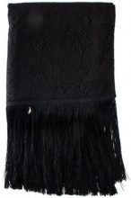 Sciarpa Patrizia Pepe  black lace scarf with fringes