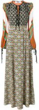MSGM - multi-print longsleeved dress - women - Silk - 48 - GREEN