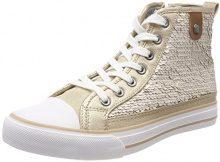 Fritzi aus Preussen Hanna Toe cap Sneaker Sequin, Collo Alto Donna, Beige (Offwhite), 41 EU