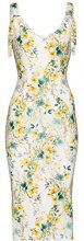 FIND Abito con Stampa Floreale Donna, Multicolore (Yellow Mix), 44 (Taglia Produttore: Medium)