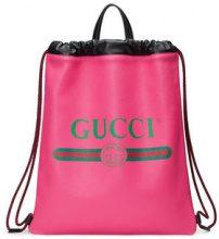 Gucci - Zaino con stampa - women - Leather - One Size - PINK & PURPLE