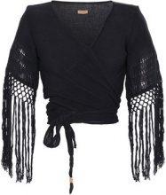 Caravana - Top incrociato 'Luum' - women - Cotton - OS - BLACK