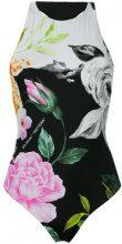 Off-White - Costume intero con motivo a fiori - women - Polyamide/Spandex/Elastane - 38 - BLACK