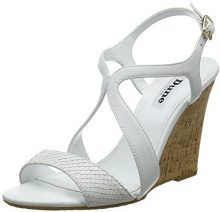 Dune Mojoe, Sandali a Punta Aperta Donna, Bianco (White-Leather White-Leather), 37 EU